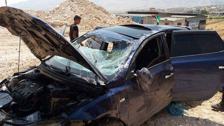 اصابة 12 مواطنا في حادثي سير منفصلين في محافظة نابلس