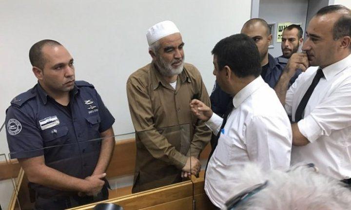 تمديد اعتقال الشيخ رائد صلاح