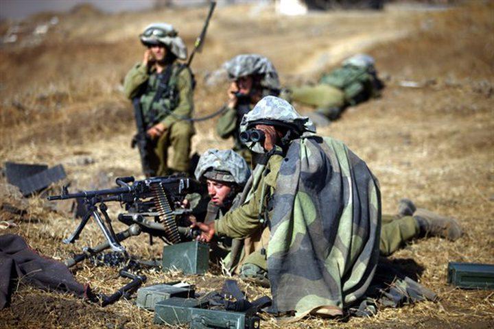 تدريب عسكري اسرائيلي حول غزة