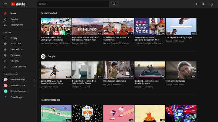 يوتيوب تغير شكل تصميم صفحتها الرئيسية