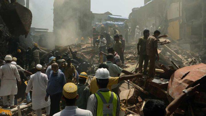 قتلى ومفقودون بإنهيار مبنى في مومباي