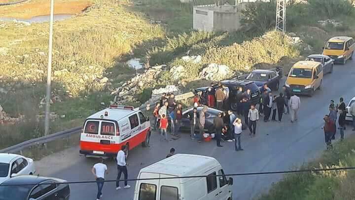 231 إصابة بحوادث سير في نابلس