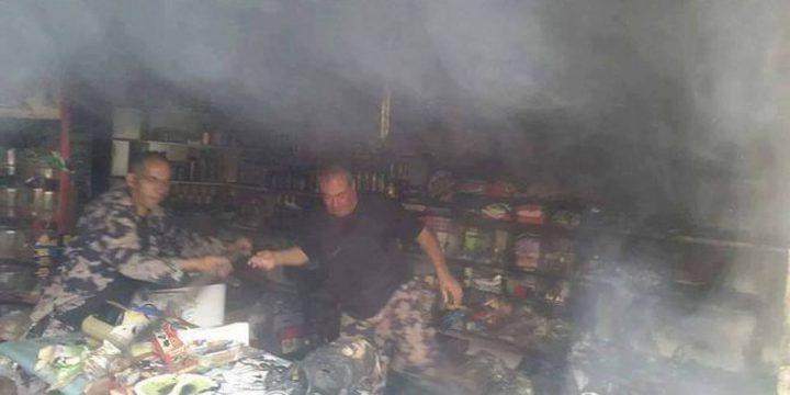 سرقة وحرق سوبر ماركت في بيت ساحور 