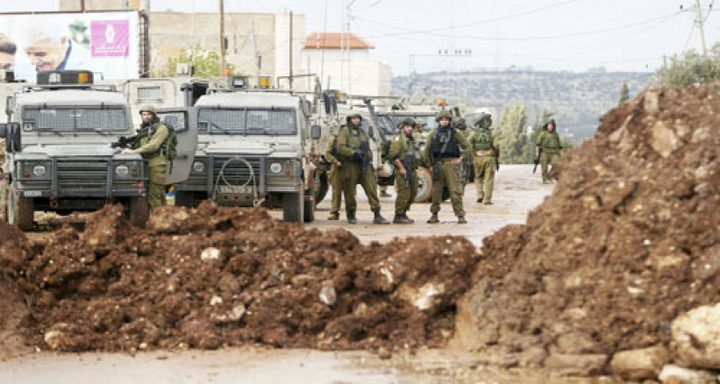 الاحتلال يغلق مدخل قرى بني زيد الغربية عقب اندلاع مواجهات