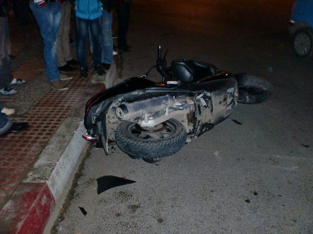 اصابة مواطن بحادث سير دراجة نارية في نابلس
