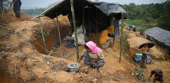 1500 مسلم روهنجي يفرون من ميانمار كل ساعة