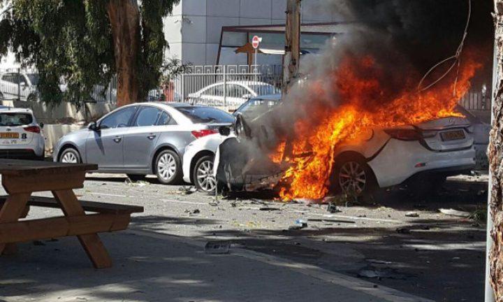 انفجار سيارة بالقرب من مدينة عكا