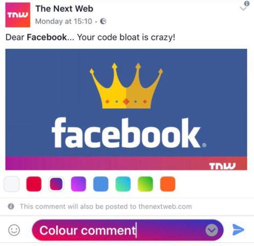 بعد المنشورات الملونة.. فيسبوك يختبر جديده!