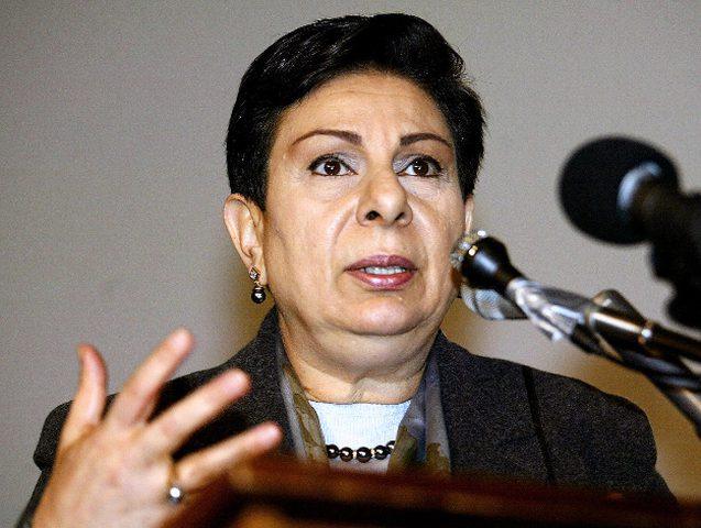 عشراوي تطلع مسؤولين سلوفينيين على التطورات الفلسطينية