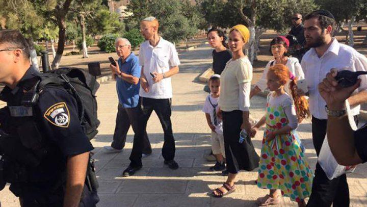عشرات المستوطنين يقتحمون بلدة بيت امر