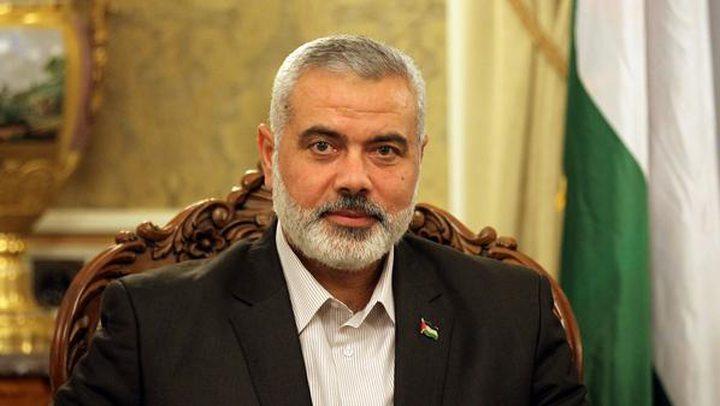 هنية يصل إلى مصر لبحث ملفي الحصار والمصالحة
