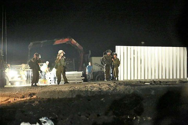 ناشطون يعيدون بناء مدرسة هدمها الاحتلال شرق بيت لحم