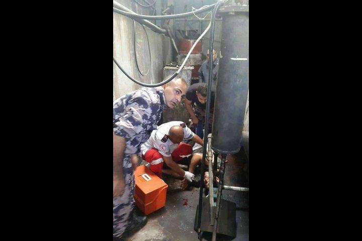 إصابة عامل جراء سقوطه من علو في نابلس