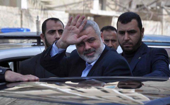 هنية والسنوار يصلان غزة