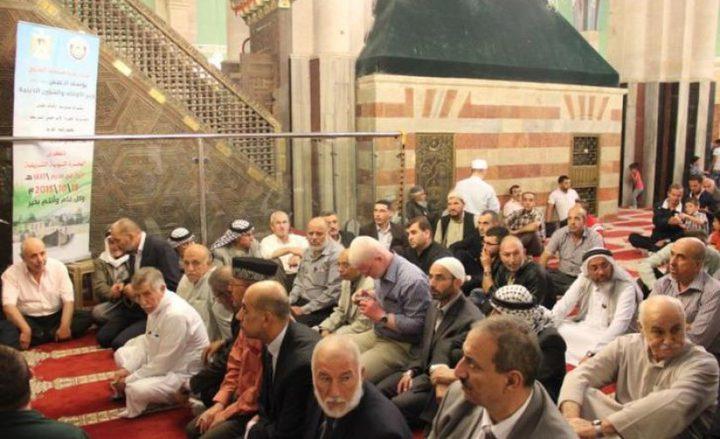 """""""الأوقاف"""" تحي ذكرى الهجرة النبوية في الحرم الإبراهيمي"""