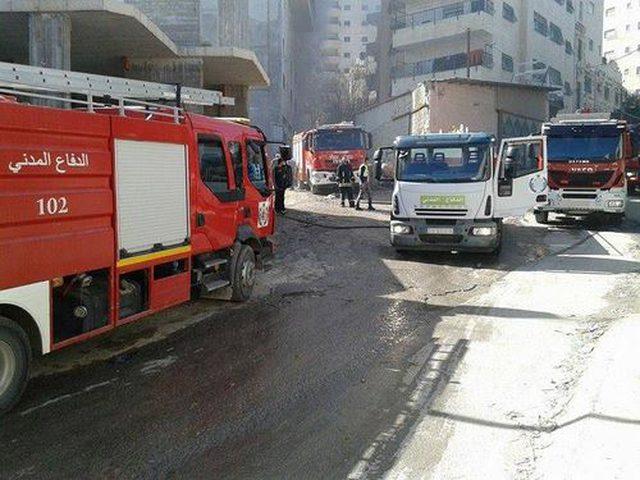 التعامل مع 221 حادث إطفاء وإنقاذ بالضفة خلال أسبوع