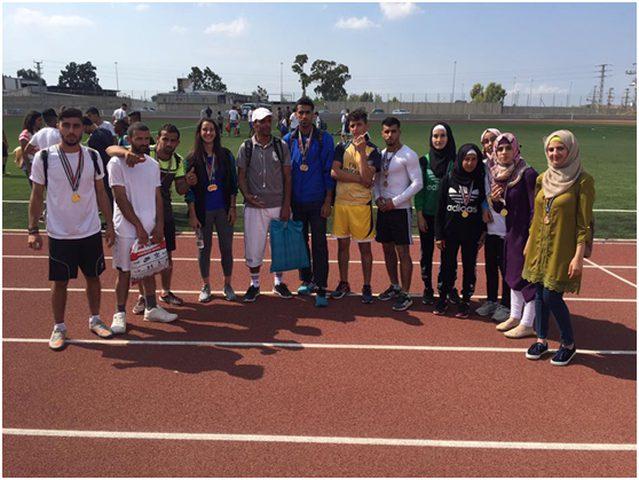 جامعة النجاح تسيطر على المراكز الأولى في بطولة الشمال لألعاب القوى
