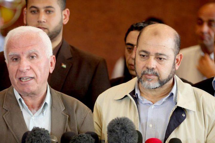 """وصول وفدي """"فتح"""" و""""حماس"""" للقاهرة لمناقشة التفاصيل المتعلقة بالمصالحة"""