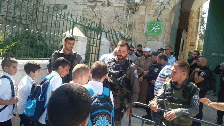 الاحتلال يمنع دخول طلاب مدارس للأقصى
