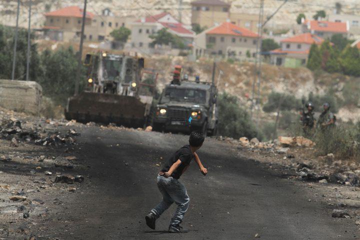 مواجهات خلال قمع الاحتلال لمسيرات الضفة