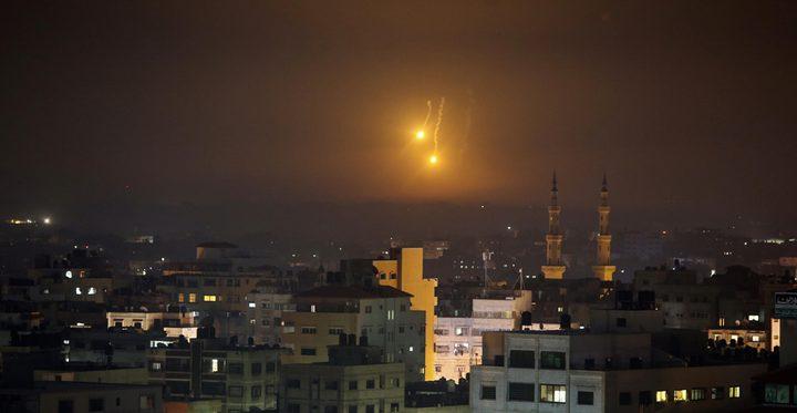 أشعة الليزر تستفز الاحتلال على حدود غزة