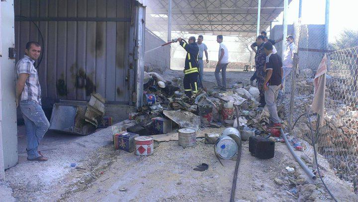 اندلاع حريق في منجرة شرق قلقيلية