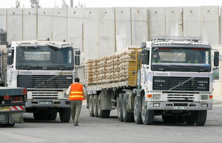 """فتح """"كرم أبو سالم"""" لإدخال 540 شاحنة"""