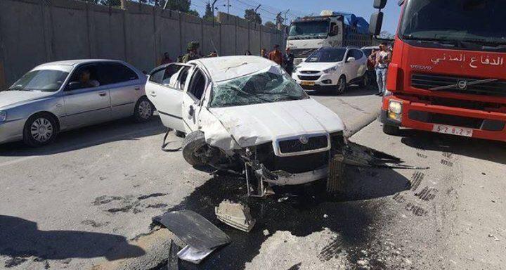 إصابة سبعة مواطنين بحادثين منفصلين في غزة