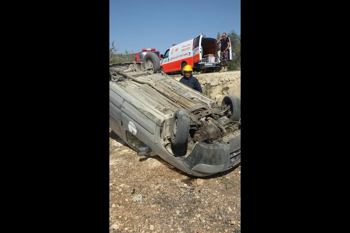 اصابات في حادث سير شمال طولكرم(صور)