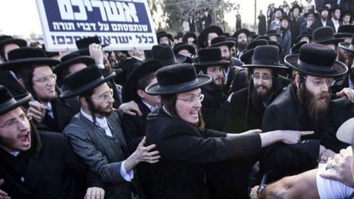 متشددون يهود يتظاهرون ضد الخدمة العسكرية