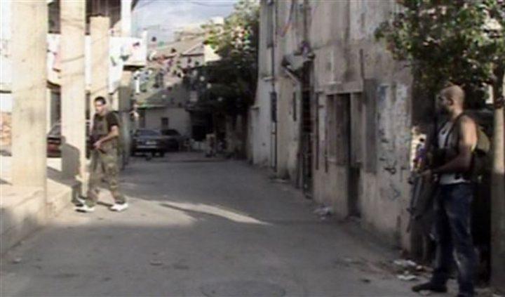 اشكال بسيط على حاجز حركة فتح في مخيم المية ومية