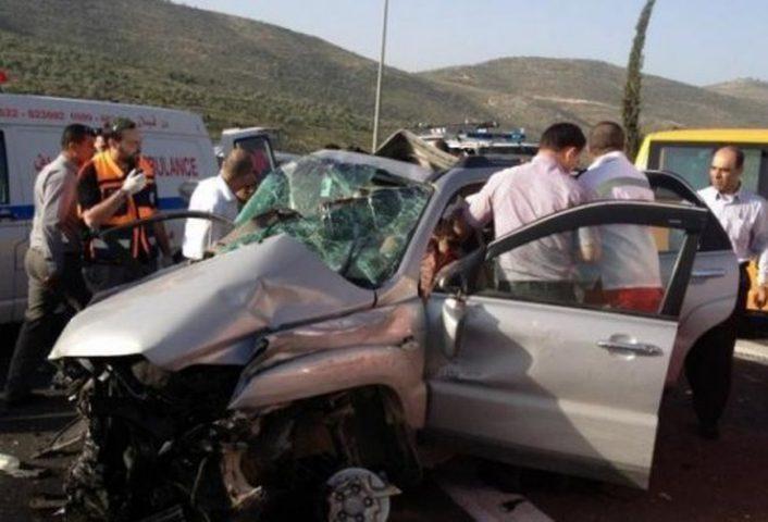 إصابة مواطنين بحادث قرب سلفيت