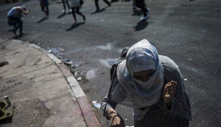 إصابات بالغاز بمواجهات مع الاحتلال