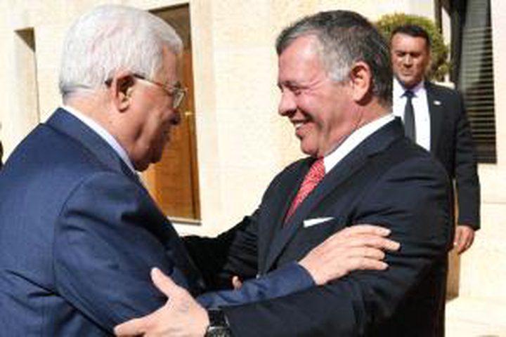 الرئيس يطلع العاهل الأردني على آخر تطورات المصالحة