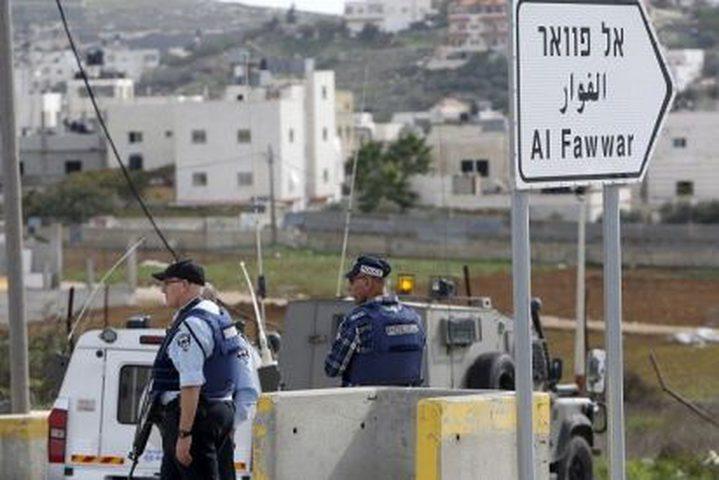 """الاحتلال يواصل اغلاق مدخل """"الفوار"""""""