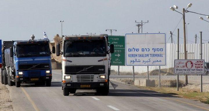 إدخال 600 شاحنة لغزة