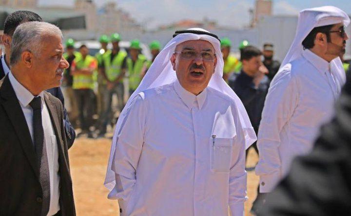 السفير القطري يصل غزة