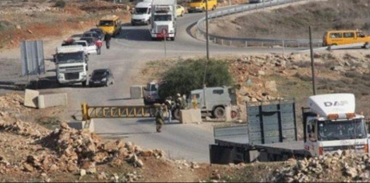 الاحتلال يغلق بوابة النبي صالح