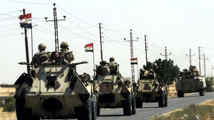 الجيش المصري يعلن عن قتل ستة مسلحين شمال سيناء