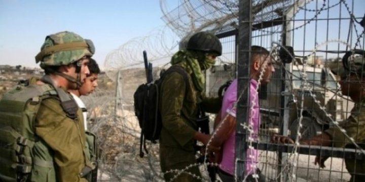 الاحتلال يعتقل فلسطيني اجتاز السياج الحدودي