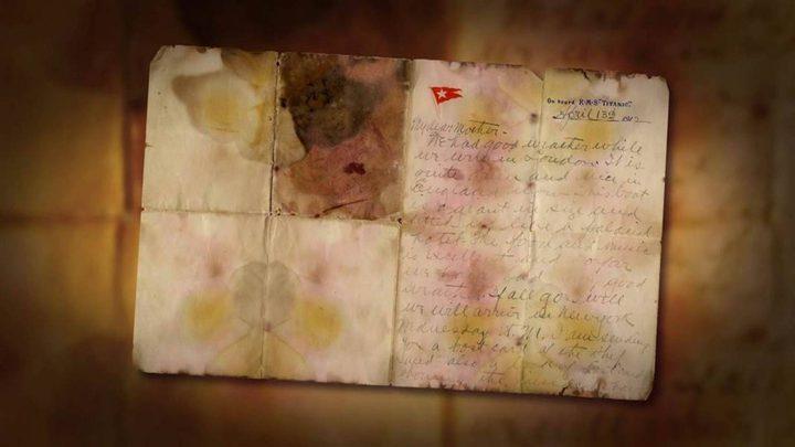 """بيع رسالة كتبها أحد ضحايا """"تايتانيك"""" لوالدته بثمن خيالي... هذا ما كشفه عن السفينة"""