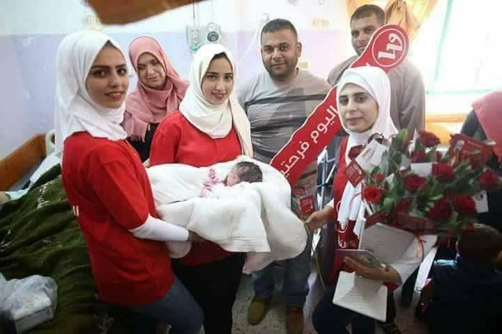 """""""وطنية"""" و""""جوال"""" أسماء مواليد في غزة"""