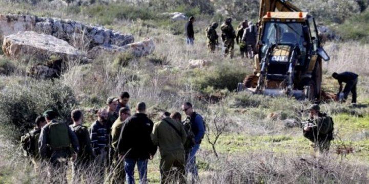 مستوطنون يهاجمون قاطفي الزيتون في دير الحطب(فيديو،صور)