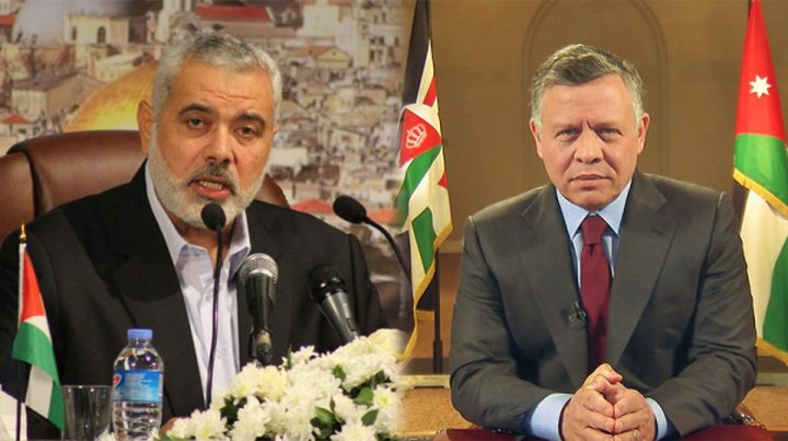"""محللون أردنيون لـ""""النجاح"""": هذه دلالات الإتصال """"النادر"""" بين الملك وهنية"""