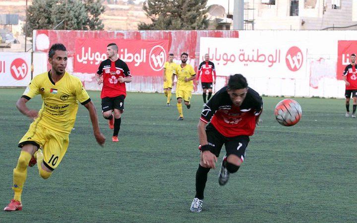 هلال أريحا وسلوان يتعدلان بثلاثة أهداف في الاحتراف الجزئي