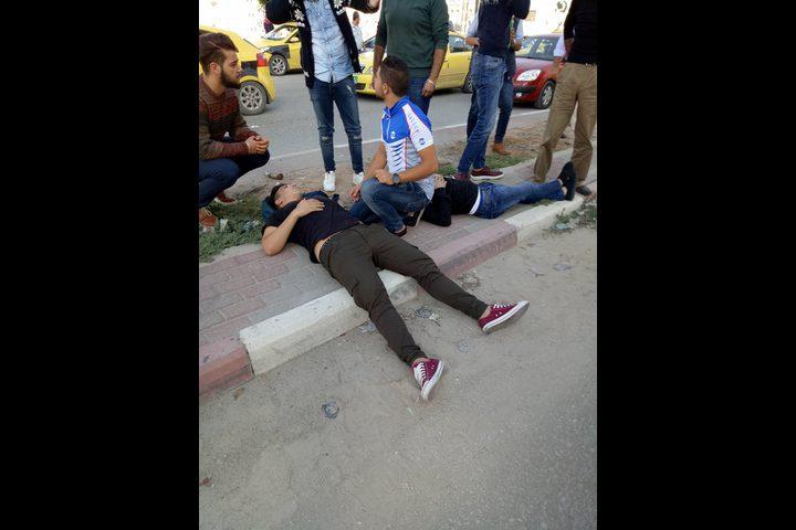 بالصور: إصابة خمسة مواطنين بحادث مروع في نابلس