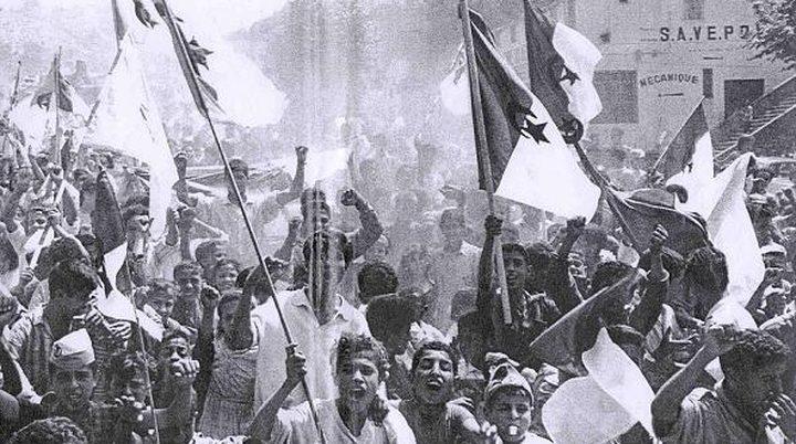ذكرى الثورة الجزائرية في رام الله ودير البلح