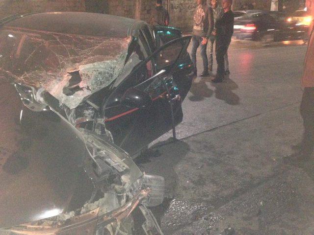 بالصور: إصابة مواطنين بحادث سير في نابلس