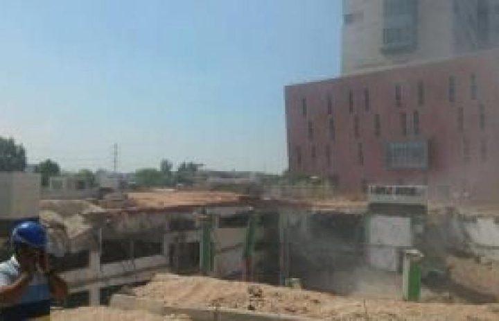 إصابة 6 عمال في انهيار مدرسة بالنقب