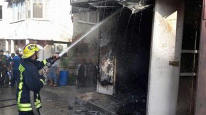 إندلاع حريق في محل للعطور بمخيم طولكرم